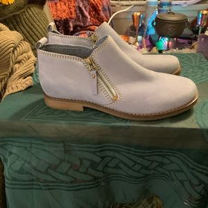 Hush Puppies light blue suede ankle boots